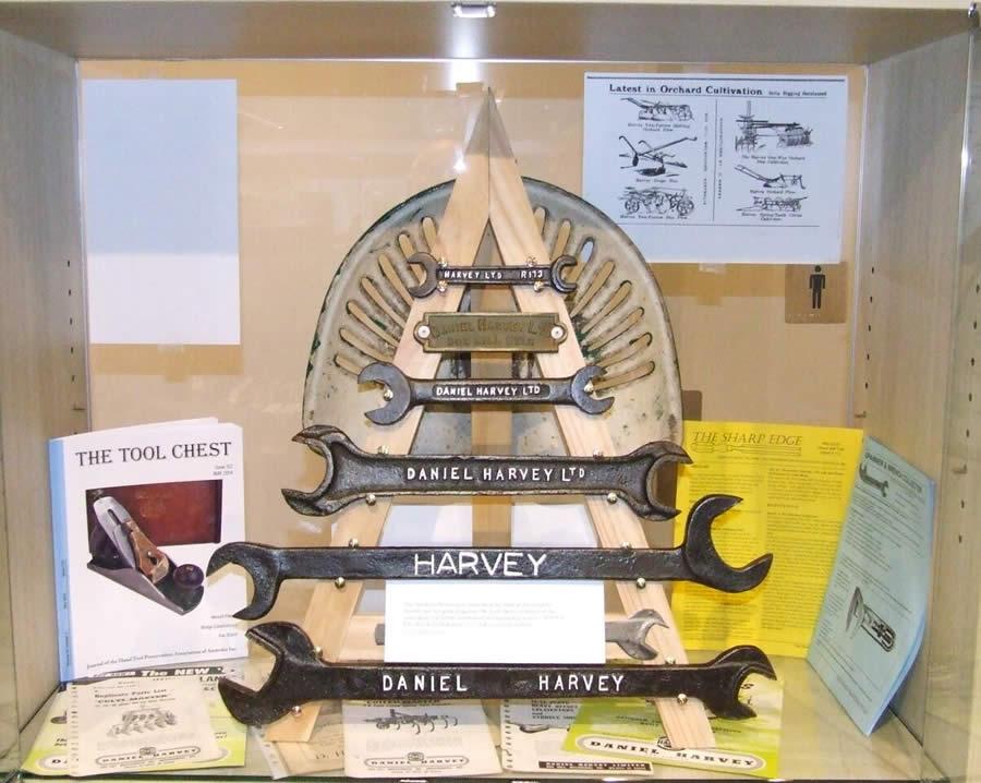 Nunawading Library display - farm spanners