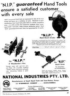 NIP - National Industries Pty Ltd Advertisement