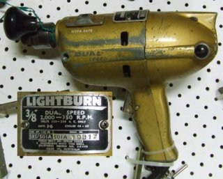 "Lightburn 3/8"" dual speed drill"