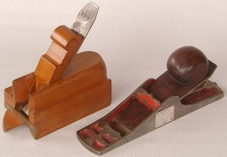 Preston Stop Chamfer Plane and an Irish Pattern Chariot Plane