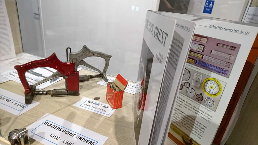 Nunawading Library display - glazing tools