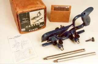 Carter C54 Plow & Groover Plane, blue painted type with set of cutters and original box