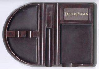Carter Desk Tidy in bakelite. De-Luxe MEM-O-TRAY by Precision Plastics Pty Ltd Sydney, Pat. Regd.Design No. 28625