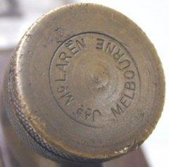 Typical Mark on McLaren's Brass Adjuster